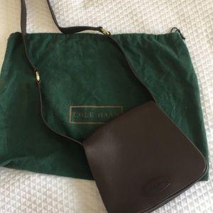 Cole Haan brown leather saddle shoulder bag